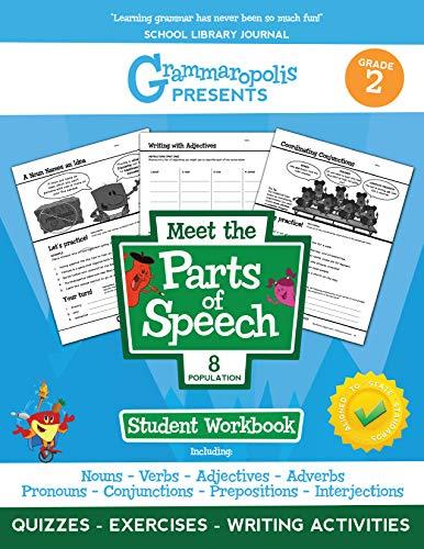 The Parts of Speech Workbook, Grade 2 (Grammaropolis Grammar Workbooks)