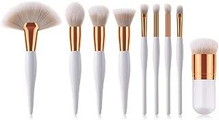 YJYdada 9PCS White Cosmetic Makeup Brush Brushes Foundation Powder Eyeshadow Brush Set