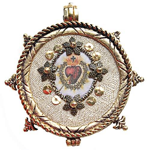 Santet Artesanía Relicario Imagen del Sagrado Corazón