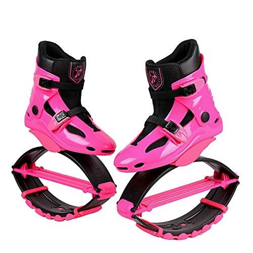 Botas antigravedad para correr y saltar, unisex, para adultos, de 20 a 99,8 kg, Rosa roja, UK 2-3.5 for 110-155 lbs