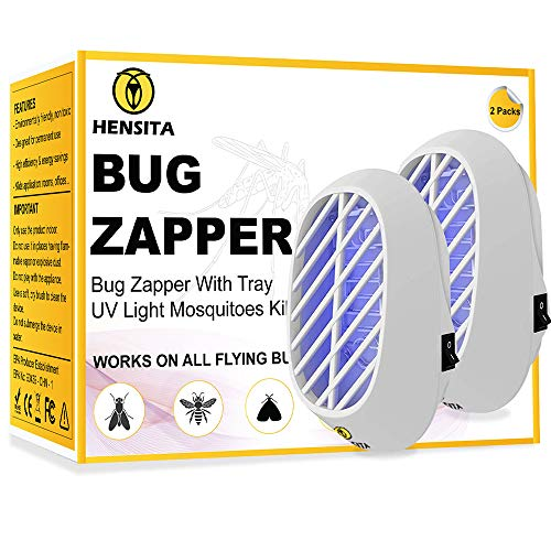 HENSITA Electronic Bug Zapper- Indoor Insect Trap for Mosquitoes, Fruit Flies and Flying Gnats - Fly and Insect Zapper for Indoor and Outdoor with UV Light - Eco-Friendly Insect Killer (2 Packs)