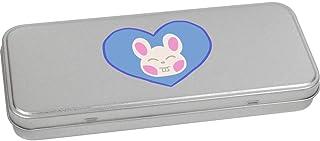 'Heart Bunny' Metal Hinged Stationery Tin / Storage Box (TT00145058)