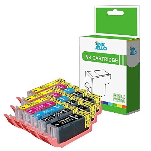 InkJello Compatibile Inchiostro Cartuccia Sostituzione Per Canon Pixma TS6050 TS6051 TS6052 TS8050 TS8051 TS8052 TS8053 TS9050 TS9055 PGI-570XL CLI-571XL (LB/SB/C/M/Y/,15-Pack)