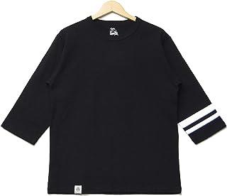 桃太郎ジーンズ 袖ライン 7分袖 Tシャツ 日本製 ジンバブエコットン 07-016