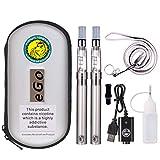Wolfteeth 2 X CE4 Ecig 1100mAh Batterie Rechargeable, 2 X CE4 Atomiseur Clearomiseur, CigaretteElectronique Sans Nicotine Ni Tabac Ni Liquide (acier inoxydable 1037)
