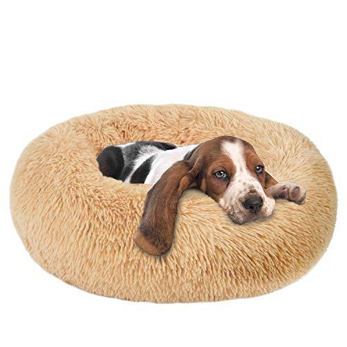 Dog Beds Calming Donut Cuddler, Puppy Dog Beds Large Dogs, Indoor Dog Calming Beds Large