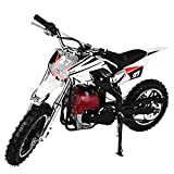Articuno Kids Motorcycle Gas Powered 49cc, Dirt Bike 4 Stroke Children Off-Roading Rocket Bicycle Mini Motorcycle Large Pneumatic Tires Ride on Toys for Boys (Red)