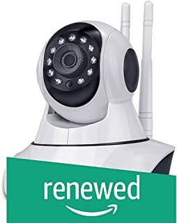 (Renewed) iBall iB-HDP1331AF 1.3MP 960P Wireless Smart HD IP Wifi CCTV Dome Camera with Built in Microphone and Micro-SD Memory Card Slot (White)