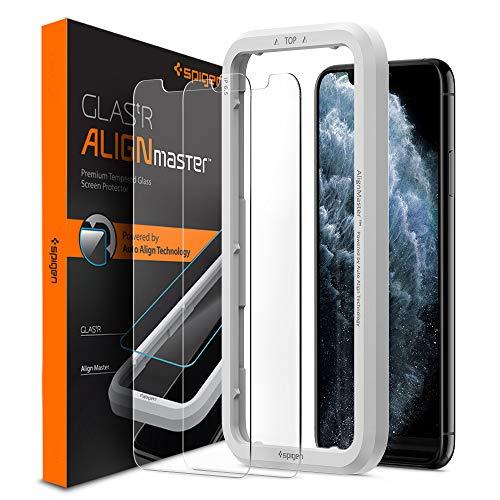 Spigen AlignMaster Vetro Temperato Compatibile con iPhone 11 PRO Max, iPhone XS Max, 2 Pezzi, Resistente ai Graffi, 9H Pellicola prottetiva