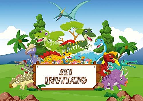 Edition Colibri 10 inviti per Festa di Compleanno; Motivo: Dinosauri / inviti di Compleanno per...