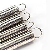 JINchao-Resorte de compresión, Gancho doble pequeña tensión del resorte, 304 de acero inoxidable muelle de extensión, alambre de diámetro 0,3 mm Diámetro externo de 2 mm de longitud 10-50mm, 10pcs ,No