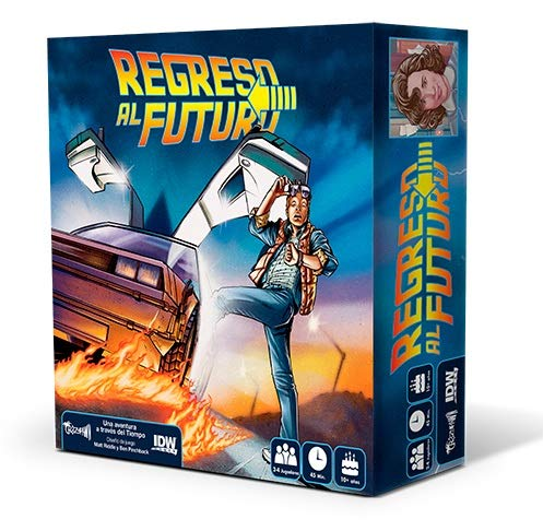 Crazy pawn Back to The Future Brettspiel, Mehrfarbig (8436581780086), Modell (spanische Version)