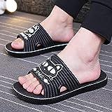 ypyrhh Chanclas para Adulto Mujeres,Zapatillas Antideslizantes de tamaño Grande, Fondo Suave-Negro_42-43,Chanclas Mujer