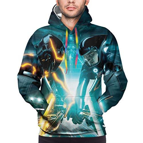 Daft Punk – Tron Legacy Kapuzenpullover für Herren, 3D-Druck, modisch, lange Ärmel, Sweatshirt Gr. 56, Siehe Abbildung