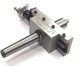 NEW IMPROVED TAPER TURNING ATTACHMENT WITH REVOLVING LIVE CENTER FOR LATHE MACHINE-METRIC (MORSE TAPER 3MT)