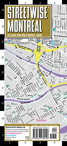 Streetwise Montreal Map - Laminated City Center Street Map of Montreal, Canada (Streetwise Maps)