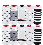 10 Pares Amor Calcetines Tobilleros Mujer Divertidos Calcetines Cortos Corazones de Algodón Calcetines Mujer Dibujos...