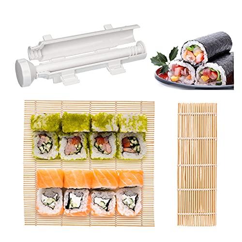 Gsrhzd Sushi Mat Set, Sushi Mat Bamboo, Un conjunto de moldes de sushi sencillos, muy adecuado para el sushi casero de picnic en casa y al aire libre