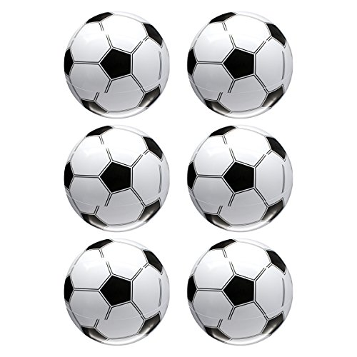 Toyvian Inflables para niños Balones de fútbol Juguetes de fútbol para el Agua Favores para Fiestas Suministros 12 Piezas