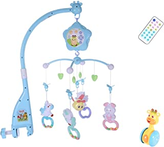 Baby Musical Crib Mobile with Timing Function Projector and Lights, Remote, Stand, Holder, Carrier, lamp, Projector for Pack and Play