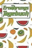 Ernährungstagebuch: Logbuch zur Erfassung der täglich aufgenommen Nahrung mit Kalorien, Kohlenhydrate, Fett und Eiweiß - Unterstützung bei einer Diät