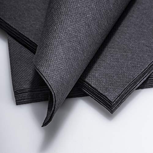 IT_IS IN 100 Tovaglioli glamour nero la formula moderna alla moda per il vostro tavolo con Super Soft Touch Comfort Dimensioni 38 x 38 cm con Super Soft Touch