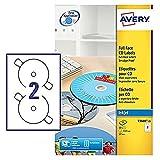 Avery C9660-25 Etichette Senza Margini, Laser/Inkjet/Copiatrici, 105 x 148, 100 FF, Diametro 117 mm, Bianco