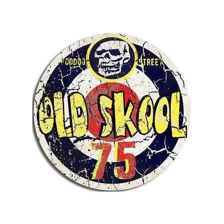 Runder Aufkleber Mit Aufschrift Old Skool 75 Auto