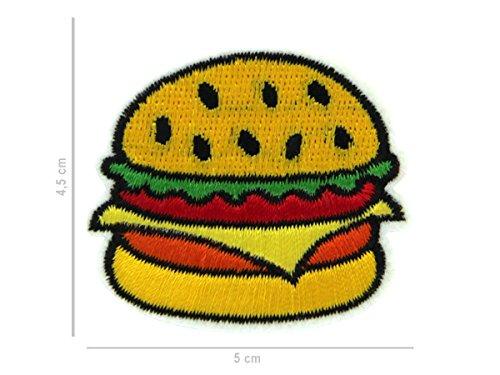 Aufbügler Patches Aufnäher Patch Aufbügel-Patch Jacke Shirt Hose zum Aufbügeln Patches-Set von ALSINO, Variante wählen:PAT-080 Burger