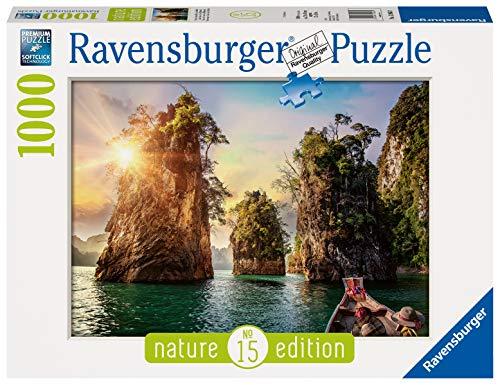 Ravensburger Puzzle 13968 - Three rocks in Cheow, Thailand - 1000 Teile Puzzle für Erwachsene und Kinder ab 14 Jahren, Puzzle mit Natur-Motiv
