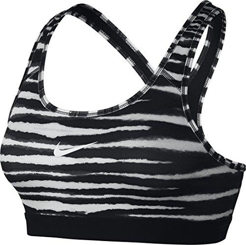 Nike Damen Sport-BH Pro Classic Tiger Bra Women, Schwarz/Weiß, L