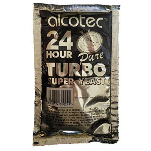 24 Turbohefe Alcotec Turbo Baujahr für Hobbybrauer, zum eigenen Herstellen von Wein, vodka und Waschung Wasserwaage