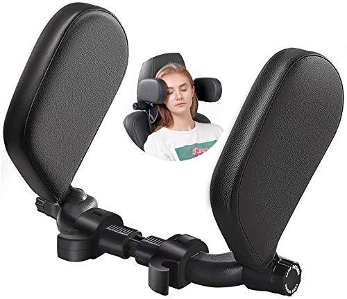 Car Seat Headrest Pillow,Car Neck Pillow Head Pillow,Sleeping Travel Seat, Head Cushion Foam,Premium Seat Head Pillow,180 Degree Adjustable Both Sides,Long Trip Rest Pillow for Kids Elders