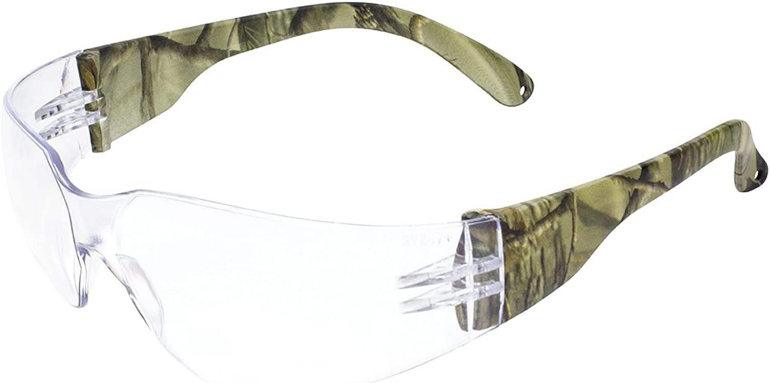Global Vision Eyewear Rider for CAMO CL Rider Safety Glasses, Clear Lens, Temples, Forest Camo