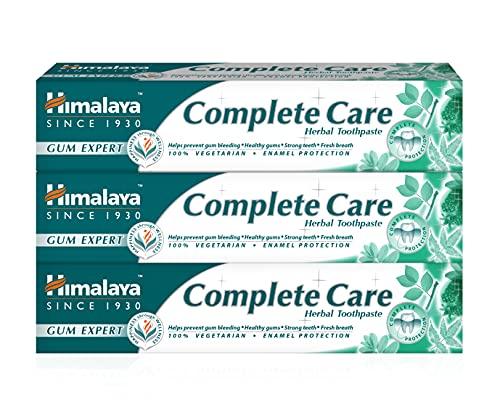 Himalaya Herbal Complete Care Toothpaste  Anti Inflammation, Anti-oxidant, Prevents Bleeding or Swollen Gum - 100% Vegetarian Herbal Toothpaste - 75ml (Pack of 3)