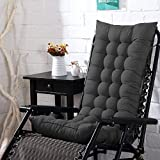 AMZ Exclusive Soft Home Cotton Cushion Long Chair Pad Cushion for Indoor/Outdoor Home Office Garden (Carbon Black, 48 x 16 inches)