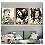 Suuyar Audrey Hepburn Ingrid Bergman Poster Leinwand