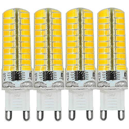 MENGS 4 Stück Dimmbar G9 LED Lampe 7W AC 220-240V Warmweiß 3000K 80x5730 SMD
