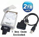 TEK® Cavo adattatore USB 2.0 a SATA Serial ATA 15+7 22P per 2.5' HDD Hard Disk con box custodia contenitore