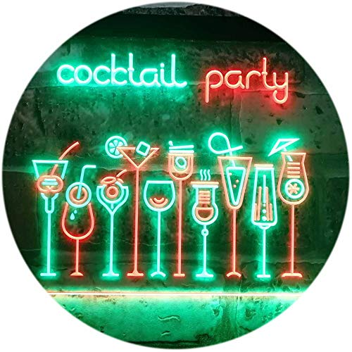ADV PRO Cocktail Party Home Bar Club Pub Dual Color LED Enseigne Lumineuse Neon Sign Vert et Rouge 400 x 300mm st6s43-i3175-gr