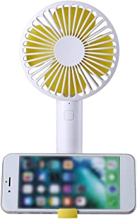 Goolfly Handheld Mini Fan Portable Fan Cooler Silent Desktop Fan with Detachable Base Phone Holder Adjustable 3 Speed for ...