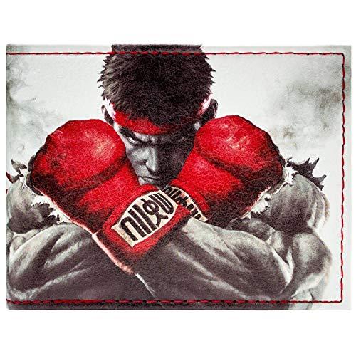 Capcom Street Fighter Ryu Ken Fight White ID & Card Bi-Fold Wall