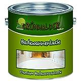 Grünwalder – Pintura para bañera, revestimiento para bañera, 2 K, barniz especial + imprimación, color blanco, gris, beige, negro