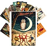 Postcard Set 24 cards SCARY HALLOWEEN Vintage Postcards Horror Zombie Ghost Witch Evil Pumpkin