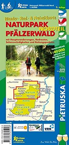 Naturpark Pfälzerwald Nordteil: Wander-, Rad- und Freizeitkarte, 1:40.000