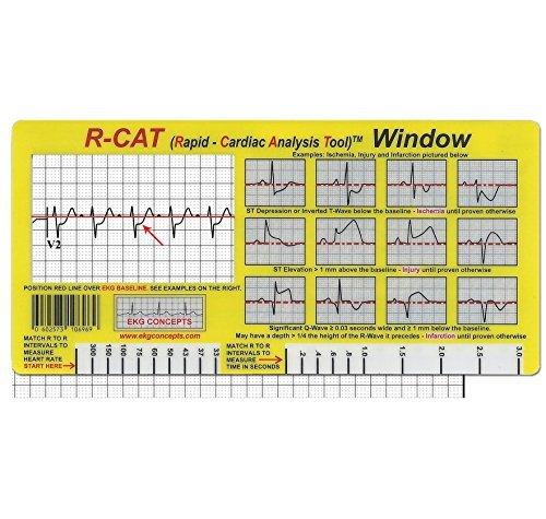 EKG-Karte (EKG) R-CAT Fenster EKG EKG EKG EKG Werkzeug für Sanitäter, Krankenschwestern und Ärzte