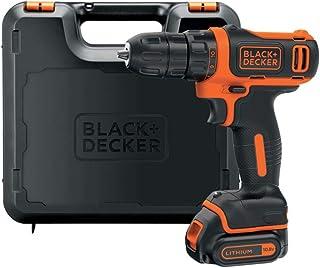 Black+Decker Li-Ion ultra-compacte boormachine BDCDD12K – kleine accuschroevendraaier met ergonomische softgrip & LED-werk...