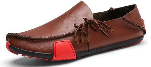 Herrenschuhe Leder Frühjahr Frühjahr Frühjahr Sommer   Herbst Komfort Loafers & Slip-Ons Atmungsaktive Freizeitschuhe, Trend Driving Schuhe, Faule Schuhe (Farbe   C, Größe   41)  exklusiv