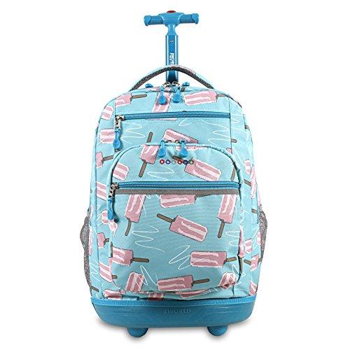 J World New York Sundance Laptop Rolling Backpack, Ice Pop, One Size