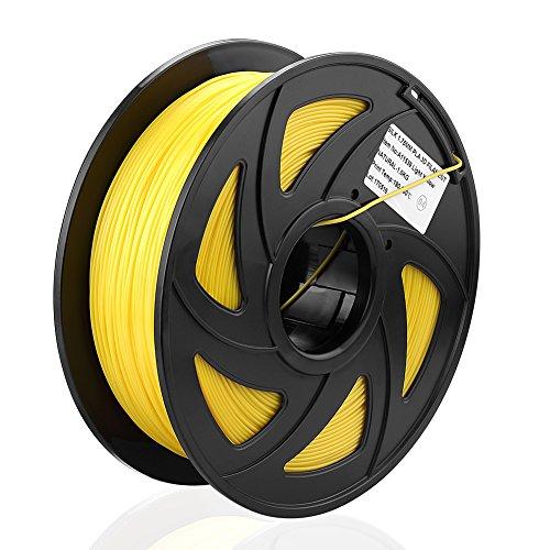 S SIENOC 1Kg Composite PLA 1,75mm 3D Printer Filamento Spool 3D Materiale di stampa per stampanti (PLA Silk Giallo)